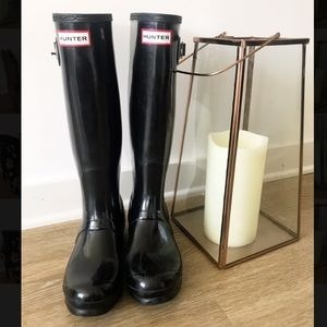 Size 7 Women's Hunter Boots, Black